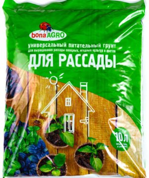 bonaAGRO универсальный питательный грунт ДЛЯ РАССАДЫ 10 л изображение