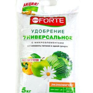 Удобрение универсальное BONA FORTE лето-осень, 2,5 кг изображение