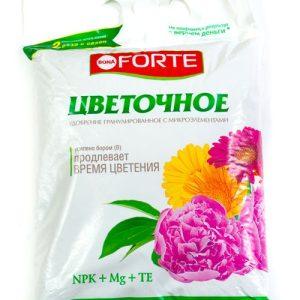 Удобрение комплексное гранулированное цветочное BONA FORTE весна-лето 1 кг изображение
