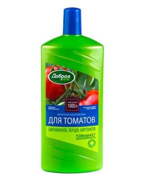 Жидкое комплексное удобрение Добрая Сила для томатов, баклажанов, перцев изображение