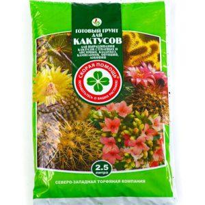 Готовый грунт Скорая помощь «Для кактусов» изображение