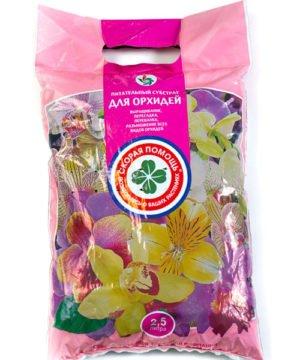 Питательный субстрат Скорая помощь «Для орхидей» 2,5 л изображение