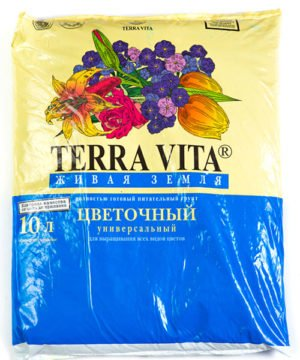 Питательный грунт Живая земля (Terra vita) цветочный 10 л изображение