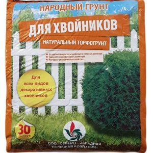 Народный грунт САДОВАЯ ЗЕМЛЯ для ХВОЙНИКОВ 30л изображение