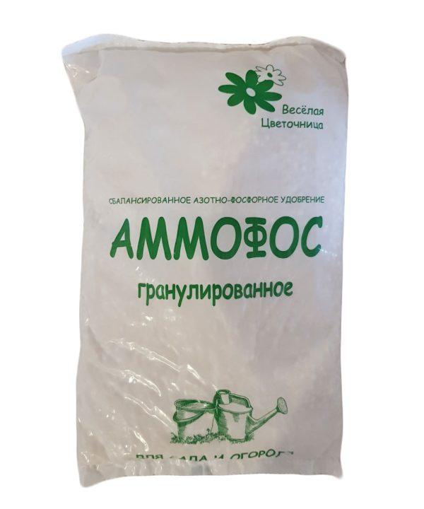 Сбалансированное сухое азотно-фосфорное удобрение Веселая Цветочница АММОФОС, пакет 0,9 кг/ 12 изображение