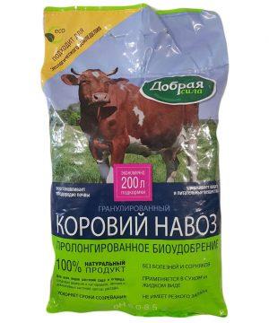 Добрая Сила КОРОВИЙ навоз гранулированный, пакет 2кг/11 изображение