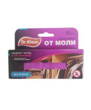 Пластины от МОЛИ Dr.Klaus без запаха в коробке 10 шт (уп.24 шт) изображение
