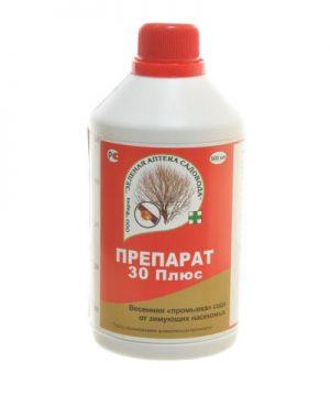 Препарат 30 плюс Зеленая аптека садовода флакон 500 мл/11 (ПРОМЫВКА САДА ОТ ЗИМУЮЩИХ НАСЕКОМЫХ) изображение