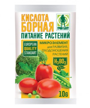 Борная кислота ГРИН БЭЛТ (пакет 10 гр) - 100 шт в коробке изображение