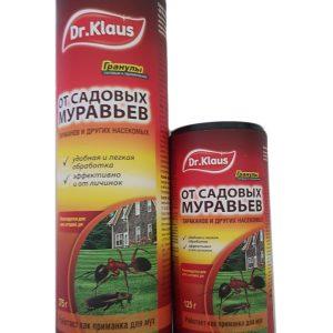 Dr.Klaus гранулы от МУРАВЬЕВ и других насекомых, банка 125 г/24, 375 г/12 изображение