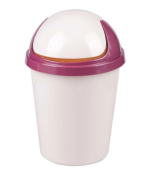 Контейнер для мусора 10 л круглый (бежевый)